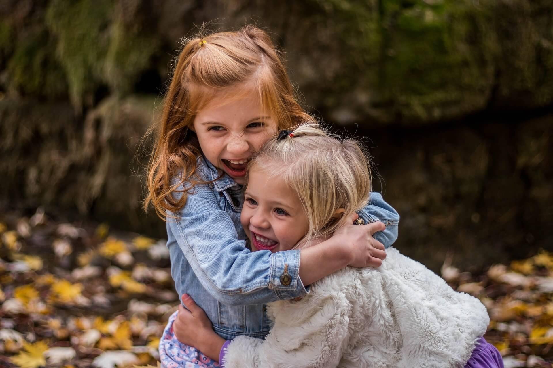 楽しそうな姉妹